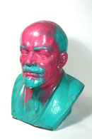 Vandalized Lenin Bust